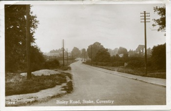 Binley Road (as lane)