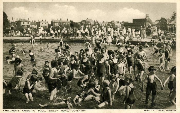 Crowded paddling pool